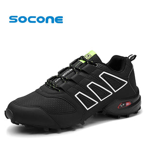 SOCONE  Big Size 39-47 Men Hiking Shoes Outdoor Climbing Sneakers Camping Shoes For Men Classical Lace up Waterproof Shoes - thegsnd