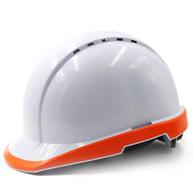 Safety Helmet Work Cap Fluorescent Hard Hat Construction Protective Helmets Outdoor Breathable Labor Engineering Rescue Helmet - thegsnd