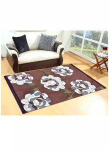 FARSH Chenille Abstract Carpet Multi (5Ft*7Ft) - thegsnd