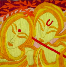 Load image into Gallery viewer, Lord Krishna With His Most Favorite Radha(Multi Color 72*62) - thegsnd