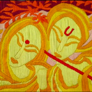 Lord Krishna With His Most Favorite Radha(Multi Color 72*62) - thegsnd