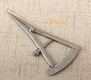 Screw adjustment styles Caliper 20mm Straight Ophthalmic Eye Instrument Tool Stainless Steel/ Titanium alloy Surgical Caliper-Family Doctor-thegsnd-d-thegsnd