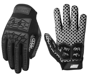 Seibertron Lineman 2.0 Padded Palm Football Receiver Gloves, Flexible TPR Impact Protection Back of Hand Glove Adult Sizes - thegsnd