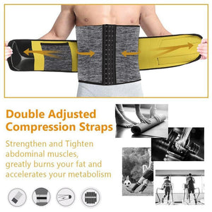 Sexywg Men Waist Trainer Support Neoprene Sauna Suit Modeling Body Shaper Belt Weight Loss Cincher Slim Faja Gym Workout Corset - thegsnd