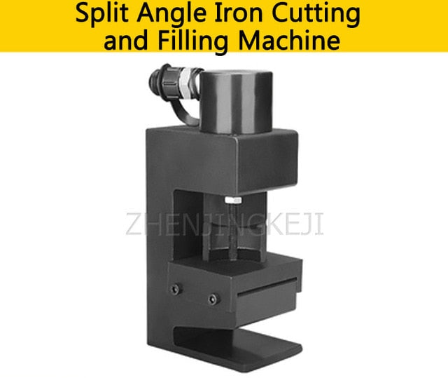 Small Hydraulic Chamfering Machine Multifunction Split Angle Steel Cutting Round Corner Chamfer Angle Iron Processing Equipment - thegsnd