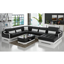 Load image into Gallery viewer, Sofas For Living Room Sofa Bed Genuine 7 Seater L Shape Leather Sofa With TV Stand - thegsnd