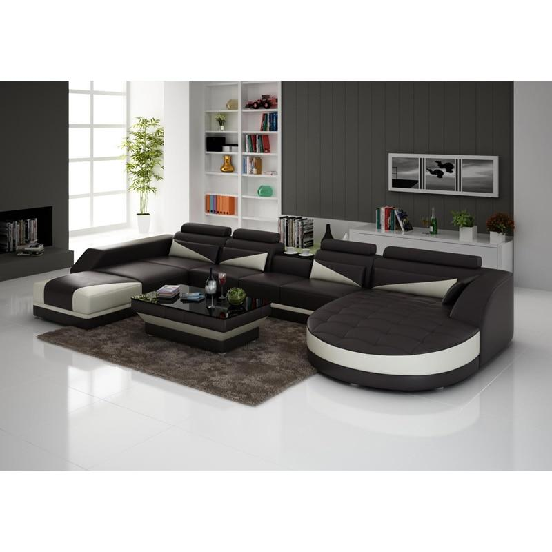 Sofas For Living Room Sofa Bed Genuine 7 Seater L Shape Leather Sofa With  TV Stand