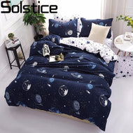 Solstice 3D Universe Stars Bedding 3 / 4pcs Kit Cartoon BedSheet Pillowcase Bedclothes Bed Linen Single Twin Full Queen Sizes-Kids Sleeping Kit-thegsnd