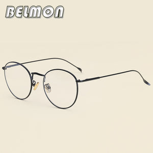 CLASSIC VINTAGE RETRO Style Clear Lens EYE GLASSES Real Bamboo Wood Wooden Frame