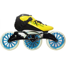 Load image into Gallery viewer, Speed Inline Skates Carbon Fiber Competition Roller Skate 3*125mm Wheels Street Racing Train Skating Patines for Kids Adult SH56-Gaming Zone-thegsnd-Yellow White-32-thegsnd