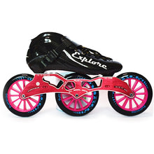 Load image into Gallery viewer, Speed Inline Skates Carbon Fiber Competition Roller Skate 3*125mm Wheels Street Racing Train Skating Patines for Kids Adult SH56-Gaming Zone-thegsnd-Black Red-32-thegsnd