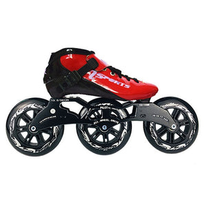 Speed Inline Skates Carbon Fiber Competition Roller Skate 3*125mm Wheels Street Racing Train Skating Patines for Kids Adult SH56-Gaming Zone-thegsnd-Red Black-35-thegsnd