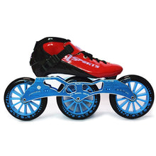 Load image into Gallery viewer, Speed Inline Skates Carbon Fiber Competition Roller Skate 3*125mm Wheels Street Racing Train Skating Patines for Kids Adult SH56-Gaming Zone-thegsnd-Red Blue-32-thegsnd