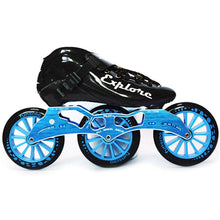 Load image into Gallery viewer, Speed Inline Skates Carbon Fiber Competition Roller Skate 3*125mm Wheels Street Racing Train Skating Patines for Kids Adult SH56-Gaming Zone-thegsnd-Black Blue-32-thegsnd