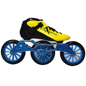 Speed Inline Skates Carbon Fiber Competition Roller Skate 3*125mm Wheels Street Racing Train Skating Patines for Kids Adult SH56-Gaming Zone-thegsnd-Yellow Blue-32-thegsnd