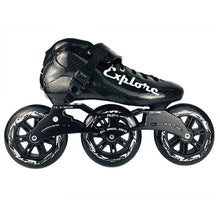 Load image into Gallery viewer, Speed Inline Skates Carbon Fiber Competition Roller Skate 3*125mm Wheels Street Racing Train Skating Patines for Kids Adult SH56-Gaming Zone-thegsnd-All black-41-thegsnd