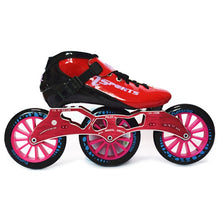 Load image into Gallery viewer, Speed Inline Skates Carbon Fiber Competition Roller Skate 3*125mm Wheels Street Racing Train Skating Patines for Kids Adult SH56-Gaming Zone-thegsnd-All Red-44-thegsnd