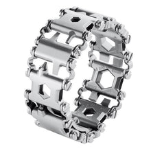Load image into Gallery viewer, Stainless Steel Bracelet Outdoor Camping Hiking Travel Screwdriver Opener Multi-Tool Integration Bracelet Emergency EDC Tool New - thegsnd