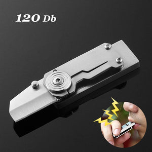 Stainless steel knife outdoor survival whistle high decibel waterproof double sound hole support lettering EDC tool - thegsnd