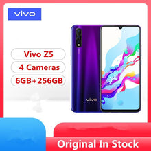 "Load image into Gallery viewer, Stock Newmodel Vivo Z5 Smart Phone Snapdragon 712 Android 9.0 6.38"" 2340x1080 6GB RAM 256GB ROM 48.0MP+8.0MP+2.0MP+32.0MP - thegsnd"