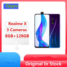 "Load image into Gallery viewer, Stock Oppo Realme X Mobile Phone Snapdragon 710 Android 9.0 6.53"" Full Screen 48.0MP+5.0MP+16.0MP Elevating Camera Fingerprint - thegsnd"