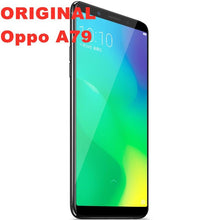 "Load image into Gallery viewer, Stock new original Oppo A79 4G LTE Android Smart Phone MTK6763T 4GB RAM 64G ROM Octa Core 6.0"" IPS 2160x1080 16.0MP Fingerprint - thegsnd"