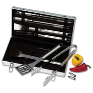 Chefmaster™ 22pc Stainless Steel Barbeque Tool Set - Case of 20 - thegsnd