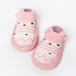 TELOTUNY baby shoes Cartoon Newborn Girls Boys Anti-Slip Socks First Walkers soft bottom non-slip cotton toddler shoes Z0828 - thegsnd