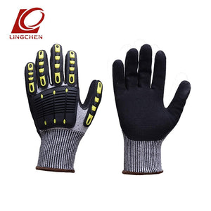 TPR Full Finger Cut Resistant Safety Gloves Riding Cycling Gloves Protective Hands from Knife (one pair) - thegsnd