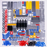 Technic Parts Bricks Pin Shock Absorber Liftarm Beam Axle Connector Panel Car Motor Toys Legoed Technic kit Building Blocks Bulk - thegsnd