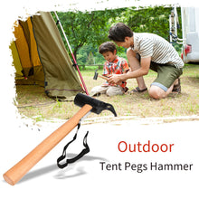Load image into Gallery viewer, Tent Pegs Hammer Carbon Steel Canopy Stakes Remover Anti-rust Outdoor Tool for Traveling Camping Hiking Tools - thegsnd