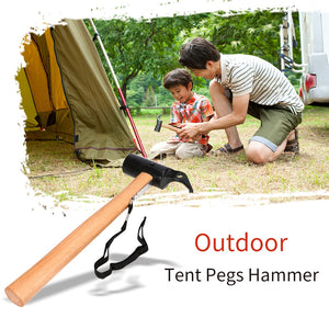 Tent Pegs Hammer Carbon Steel Canopy Stakes Remover Anti-rust Outdoor Tool for Traveling Camping Hiking Tools - thegsnd
