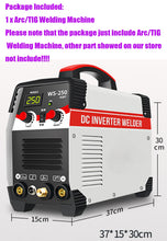 Load image into Gallery viewer, Tig Welder 250A Arc TIG 2 IN 1 Argon  Control Welding Machine Stainless Steel Carbon Steel IGBT Technology - thegsnd