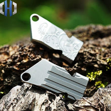Load image into Gallery viewer, Titanium Alloy Survival Whistle Rescue Whistle Metal Treble Wild Outdoor Survival Equipment - thegsnd