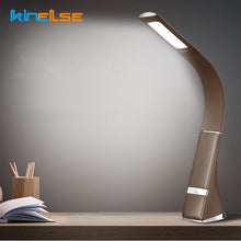 Load image into Gallery viewer, Touch Dimmable LED Table Lamp Business Desk Lamp Skin Leather Texture USB Reading Lamp Display Alarm Clock Office/Reading Room - thegsnd