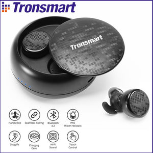 Tronsmart Spunky Buds Bluetooth Earphones IPX5 Waterproof Wireless Earphones with Bluetooth &Microphone Stereo for Phones - thegsnd