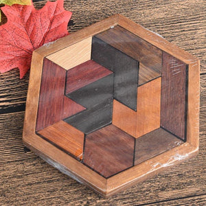 VKTECH Kids Wooden Puzzles Toys Jigsaw Board Geometric Shape Puzzle Game Montessori Educational Toys for Children Christmas Gift-Wooden Toy-thegsnd-thegsnd