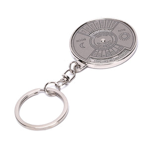 Wholesale 100pieces/lot Featured Chinese English Creativity Perpetual Calendar Mini keychain Zinc Alloy For Hiking Camping Tools - thegsnd