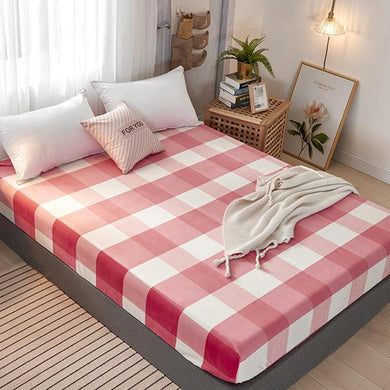 Wholesale Fleece Bed Sheet Mattress Cover Flat Sheet Flannel Fitted Bedsheet Twin Full Queen King Size 150*200/180*200cm Sabanas - thegsnd