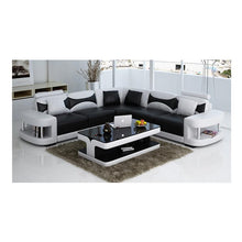 Load image into Gallery viewer, Wholesale living room furniture leather corner sofa set 7 seater sectional sofa with Led light - thegsnd