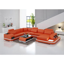Load image into Gallery viewer, Wholesale living room furniture leather corner sofa set 7 seater sectional - thegsnd