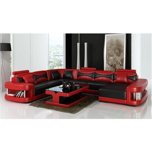 Wholesale living room furniture leather corner sofa set 7 seater sectional sofa - thegsnd