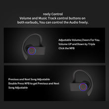 Load image into Gallery viewer, Wireless Sports Headphones TWS Bluetooth 5.0 Earphones Ear Hook Running Noise Cancelling Stereo Earbuds With MIC IPX4 Waterproof - thegsnd
