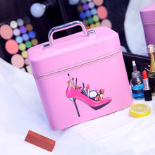 Load image into Gallery viewer, Women Cosmetic Bag Multifunction Organizer Waterproof Portable Makeup Bag Travel Beauty Case Makeup Tool Kits Medium Size - thegsnd