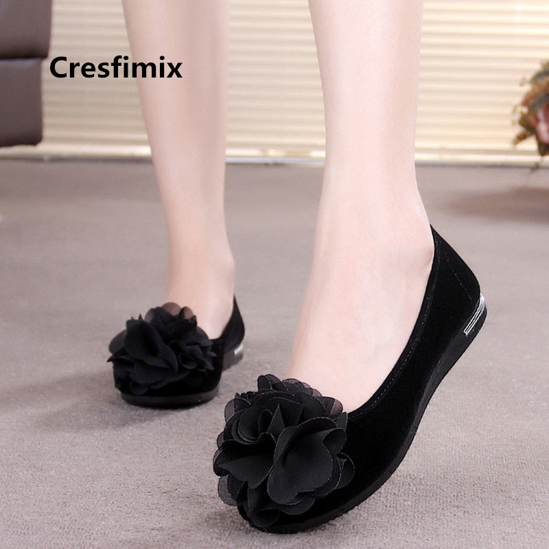 2019 New Vintage Womens square toes Flats Low top Comfortable Ballet Dance Shoes