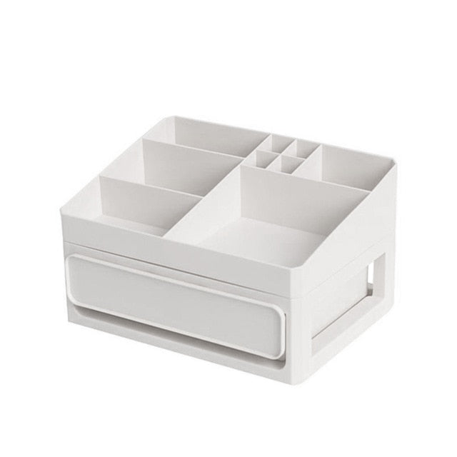 Women Large Capacity Multi-Drawers Cosmetics Storage Box Girl Jewelries Makeup Desktop Organizer - thegsnd