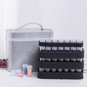 Women Large Capacity Professional Makeup Organizer Fashion Toiletry Cosmetic Bag Multilayer Storage Box Portable Pretty Suitcase - thegsnd