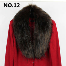 Load image into Gallery viewer, Women Solid Long Hair Imitated Fur Scarves Autumn Fashion Smooth Large Shawl 14 Colors 90CM Faux Fur Collar Cape Shawl Winter - thegsnd