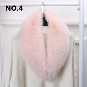 Women Solid Long Hair Imitated Fur Scarves Autumn Fashion Smooth Large Shawl 14 Colors 90CM Faux Fur Collar Cape Shawl Winter - thegsnd
