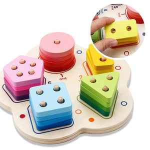 Wooden Assemble Model Kids Building Blocks Toy Children Interactive Games Block Baby DIY Training Educational Toys Children Gift-Wooden Toy-thegsnd-thegsnd